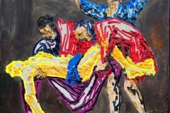 """Grablegung Christi"" (nach Caravaggio) 110 cm x 155 cm Öl auf Leinwand"