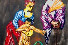 """""""Magdalena und die Schlange"""" (nach Caravaggio) 110 cm x 155 cm Öl auf Leinwand"""