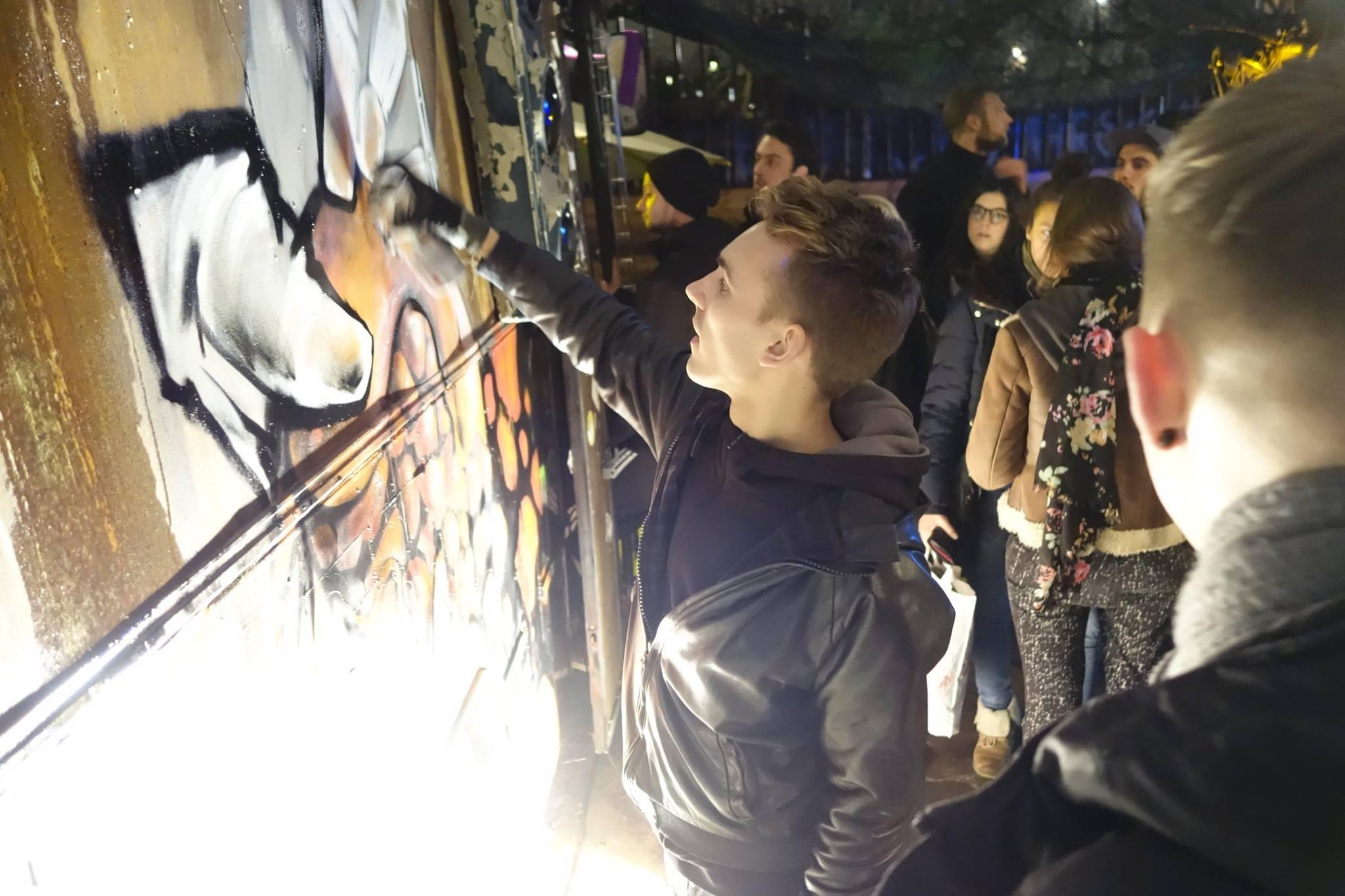 """""""Bordell des arts"""" Sommer 2014 Livepainting Gustav Sonntag Feliks Stift kollektiv exlex"""